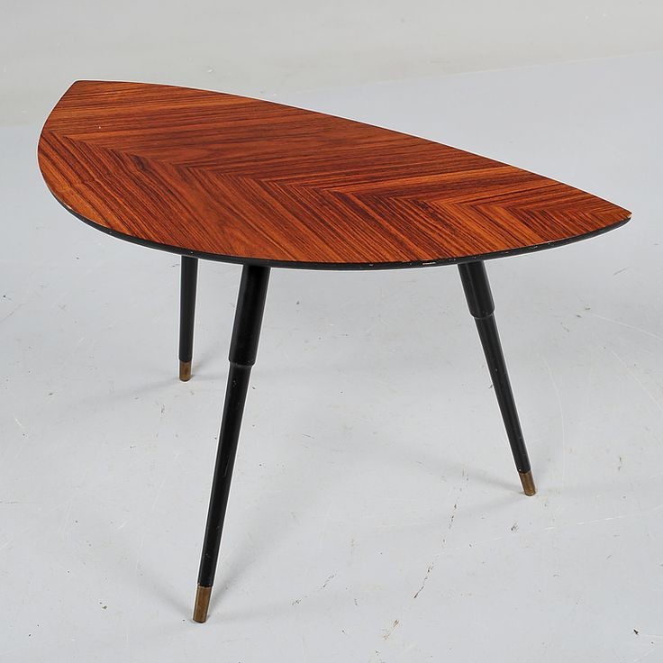 Gillis Lundgren; Rosewood, Lacquered Wood and Brass 'Lövet' Table for IKEA, 1955.