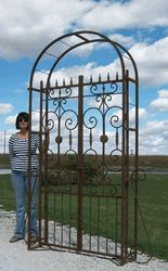 Iron Country French Arbor Entry Gate Wrought Metal Gates This Does