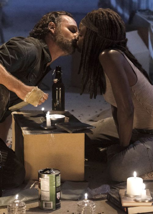 """ Michonne and Rick in The Walking Dead Season 7 Episode 12 