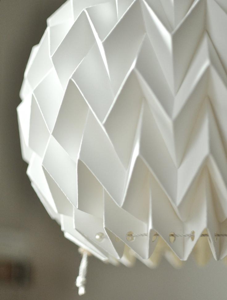"Origami Paper Lamp Shade / Lantern ""Bubble"" etsy | folded ..."
