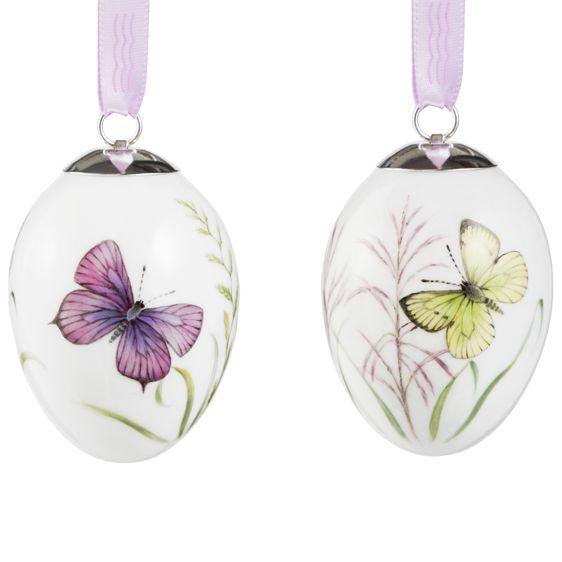Easter Egg - Butterflies - 2.pack www.luxusundlifestyle.de/Royal-Copenhagen