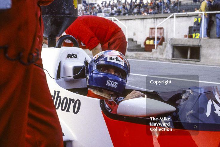 Alain Prost, McLaren MP4/2B, Brands Hatch, 1985 European Grand Prix. #f1 #formula1