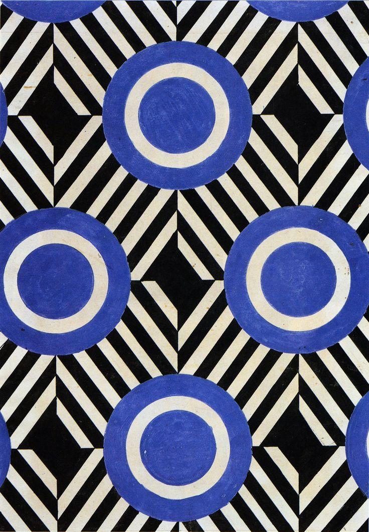 Liubov Popova, fabric design (1920s)