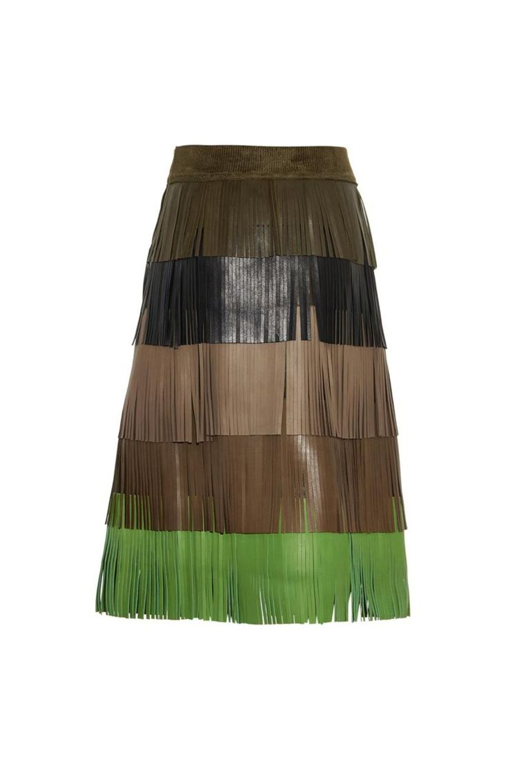 This leather skirt has fashion-editor street-style maven written all over it. A strappy sandal heel is the perfect touch. #refinery29 http://www.refinery29.com/matches-summer-sale#slide-17