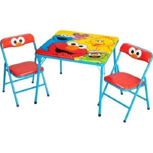 Kids Activity Toddler Table Chair Elmo Storage Playroom Wooden Toy Furniture Set #Unbranded