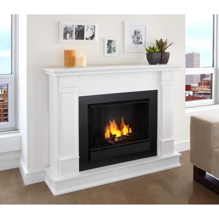 Discover the beauty and quality of the Real Flame - Silverton Ventless Gel Fireplace. Curl up by the comforting glow and warmth of a real fire anywhere in your home. Ideal for living rooms, family rooms, dens, or bedrooms, this free-standing, vent-f