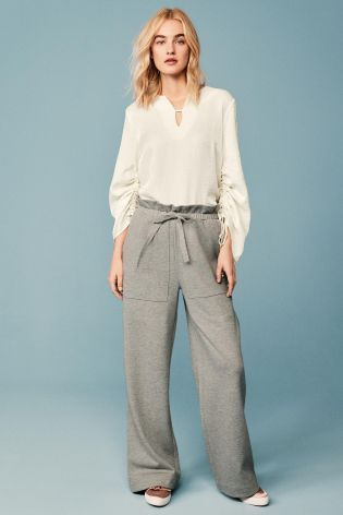 Grey Paper Waist Trousers