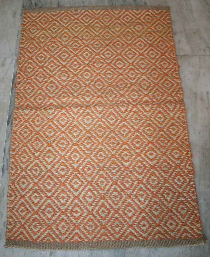 Jute Kilim Mat Floor Mat Vintage Door Mat Room Rug Door mat Turkish Kilim  #Turkish