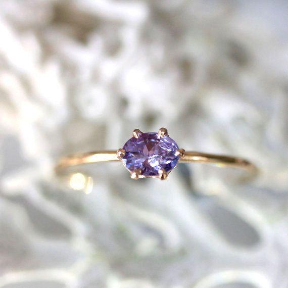 Purple Princess  Purple  blue Tanzanite In 14K by louisagallery, $139.00