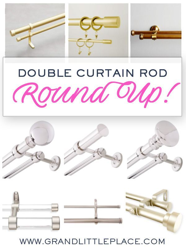 Double Curtain Rod Round Up Click To See The Best Double Rods Out There Double Rod Curtains Curtains Living Room Double Curtains