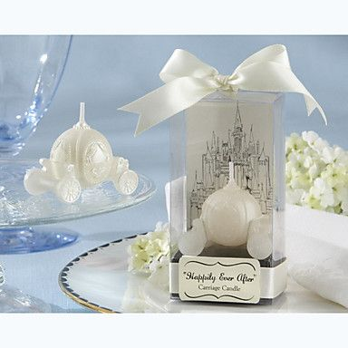 Hily Ever After Carriage Candle Bridal Shower