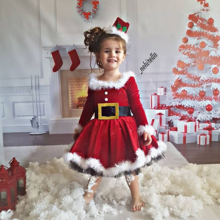 Miss Santa Claus, Christmas Dress for Toddlers, Little Miss Santa Claus Christmas Costume – Pan Costume