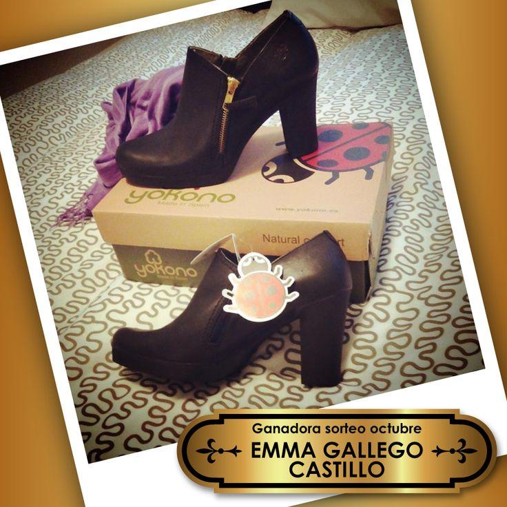 Emma ya tiene en casa sus preciosos zapatos #Yokono y nos ha prometido que en unos días nos mandará su #outfit