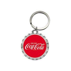 Nostalgic art 48011 de coca-cola red crown logo cap-porte-clés rond – 4 cm