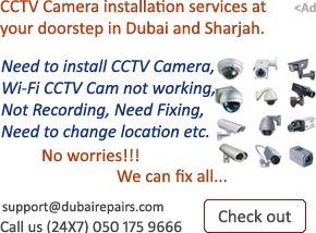 "Wireless CCTV Camera Installation in Sharjah, Call any time (24x7) 050 1759666 to fix all IT products at ""Lowest price"". Best services at your doorstep."