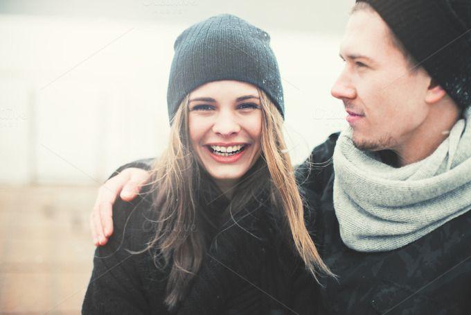 cute couple in love by Aleshyn Andrei on Creative Market