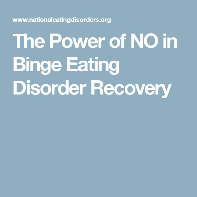 The Power of NO in Binge Eating Disorder Recovery