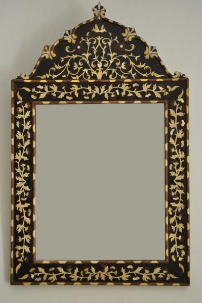 Inlaid Wood Mirror Frame Moroccan Home Decor Wood