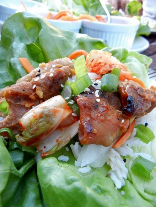 spice pork wraps seven spice pork lettuce wraps recipes dishmaps ...