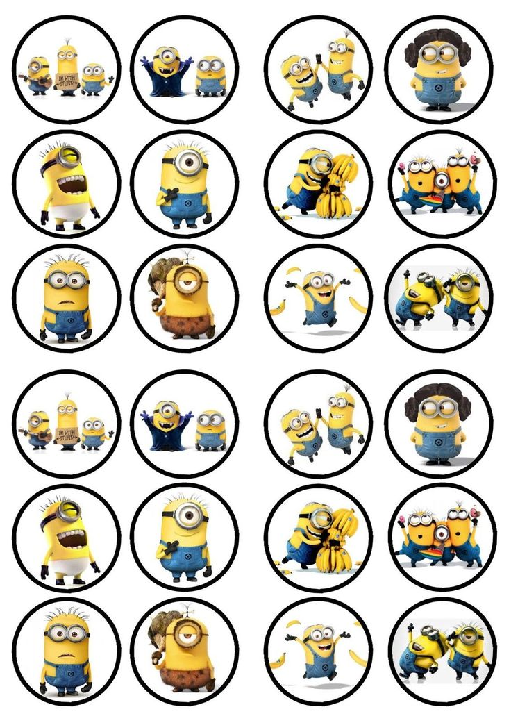 Minions Movie Edible PREMIUM SWEETENED Wafer Paper Cupcake Toppers in Crafts, Cake Decorating | eBay