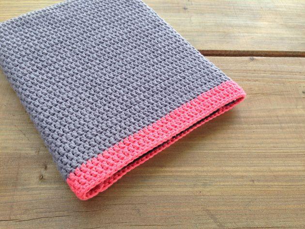 Husbestyrerinden: Hæklet beskyttelsescover til Ipad (Ipad cover, crochet)