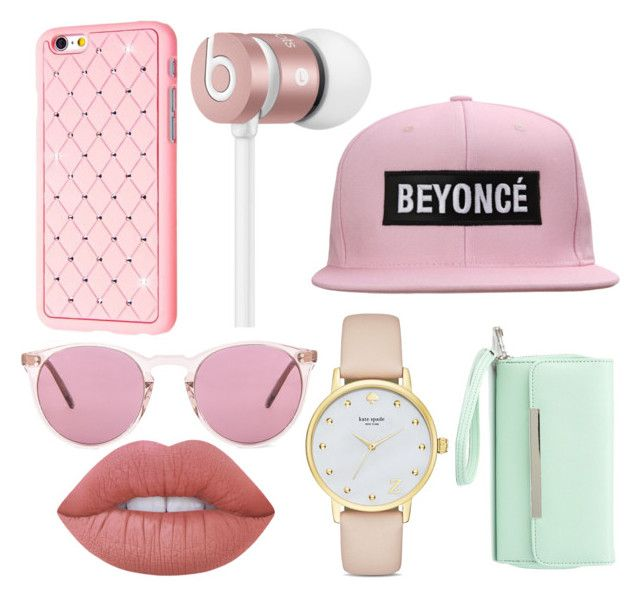 """""""Helloday!"""" by archita-dewi on Polyvore featuring Oliver Peoples, Beats by Dr. Dre, Lime Crime, Kate Spade and Charlotte Russe"""