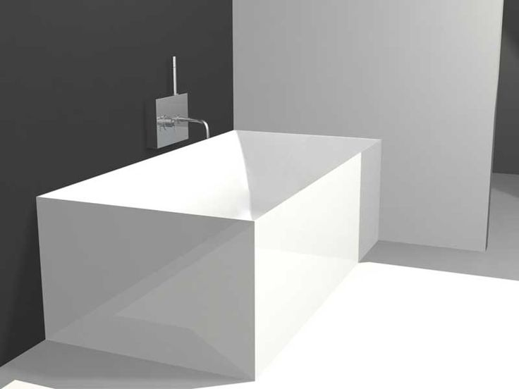 Small Square Tub Part - 37: Compact Square Bathtub For Small Modern Bathroom - Contemporary Bathroom