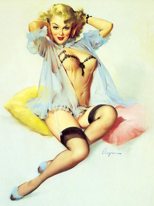 Pin Up by G. Elvgren, once more, a fantastic picture.                                                                                                                                                      Mais