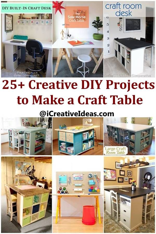 25 creative diy projects to make a craft table