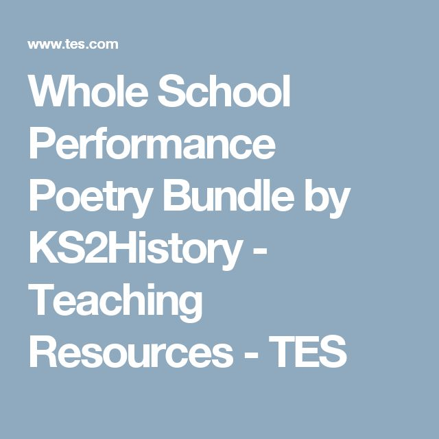Whole School Performance Poetry Bundle by KS2History - Teaching Resources - TES