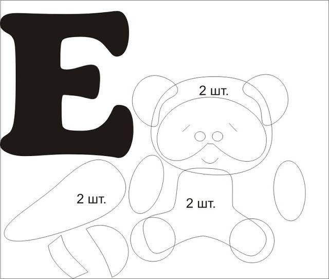 Design & Decor: Алфавит из фетра. Выкройки от А до Л. Часть 1