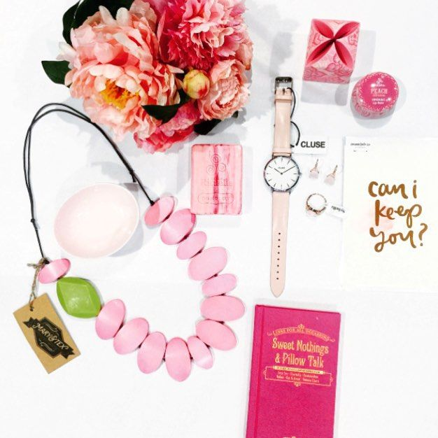 Can I keep you? Crushing on Pink love #flatlay #vignette #sweetnothingsandpillowtalk #cluselaboheme #rituellelipbalm #styleitup #pinkcrush #peoniesforlove