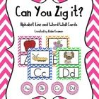This 33 page packet contains a brightly colored chevron alphabet line in manuscript print. It also contains matching word wall cards with each lett...
