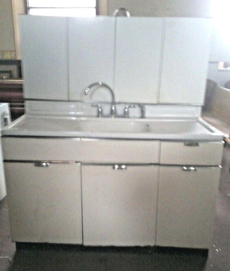 102 best images about kitchen vintage on pinterest stove for Antique metal kitchen cabinets