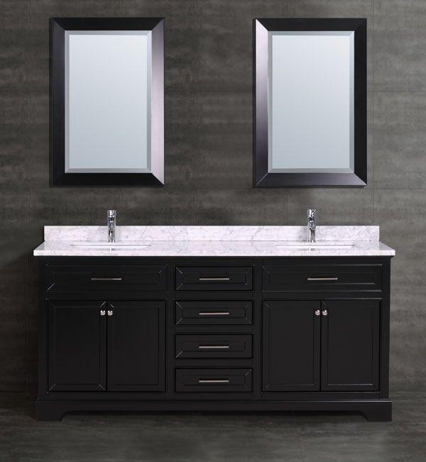 Ensuite // Veneto Bath 621-72 Vanity // Includes marble counter & oval undermount sinks