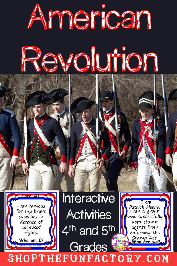 American History US Revolution Activities For 4th Grade And 5th