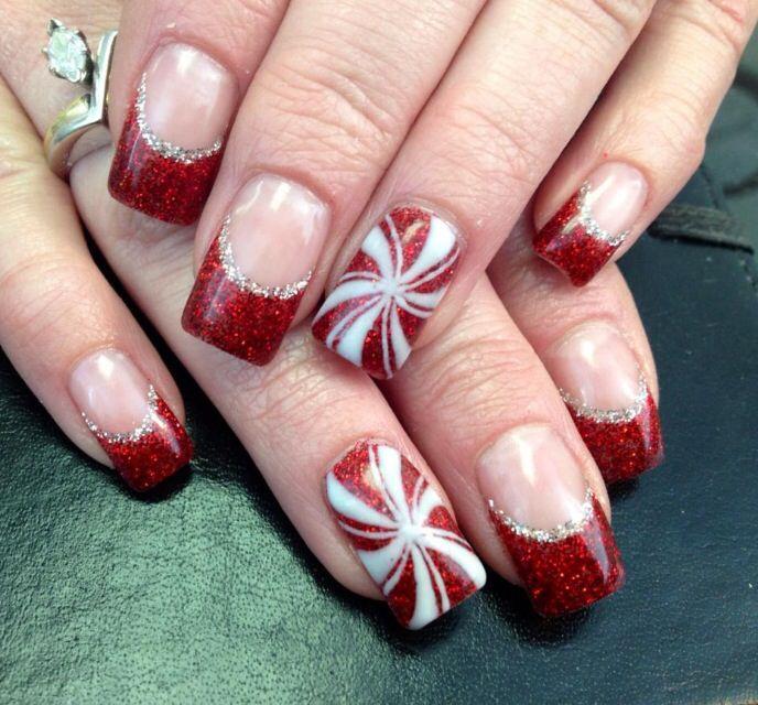 Best 25 Holiday Acrylic Nails Ideas On Pinterest