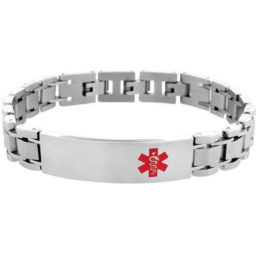 Inox Jewelry 316L Stainless Steel Red Caduceus Medical Alert Symbol Bracelet INOX Jewelry. $61.50. Save 57% Off!