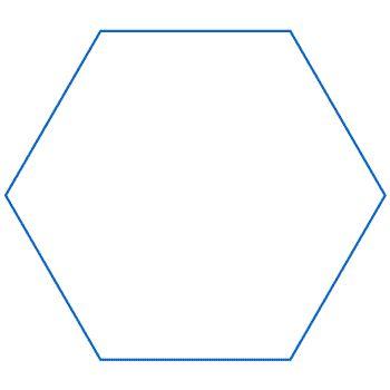 Curva di Koch: esagono con iterazione quadrata