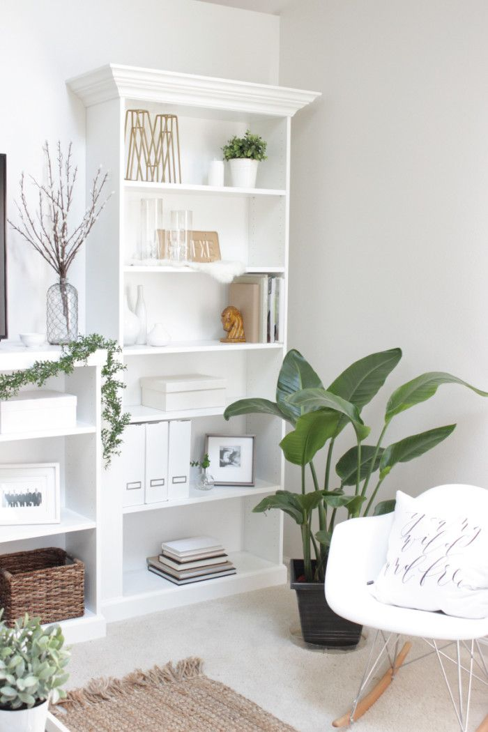 Our ikea hack diy built in bookcase ikea hacks home and home hacks - Muebles billy ikea ...