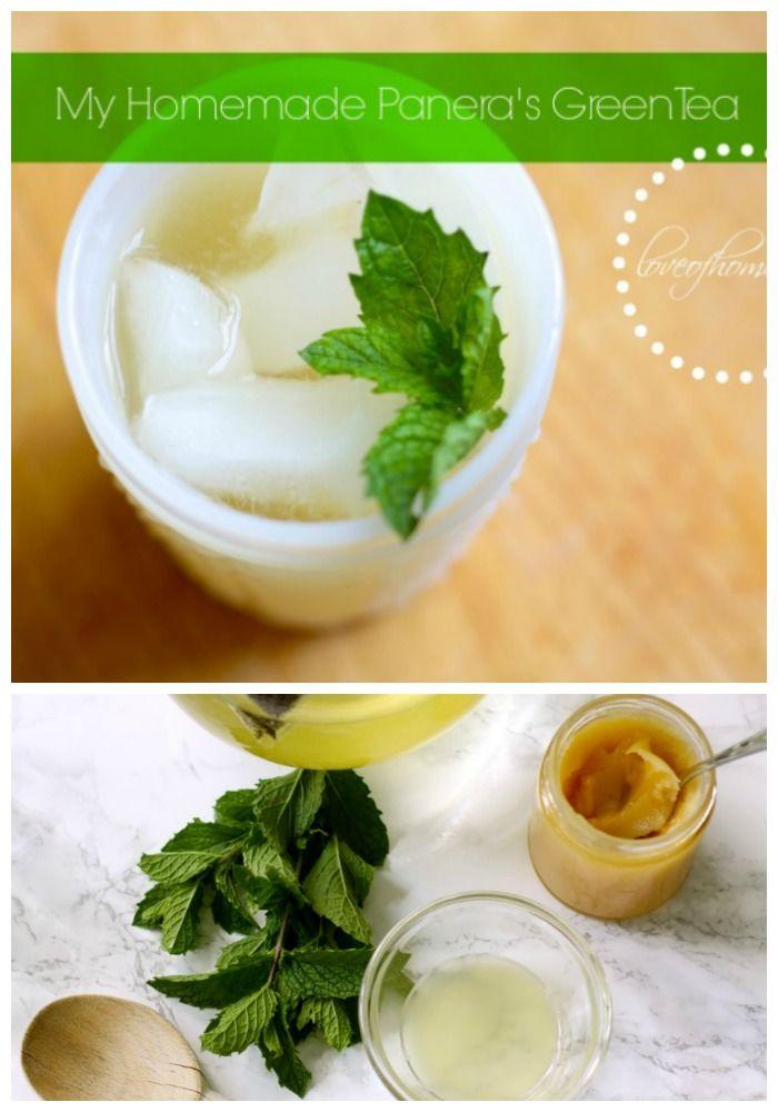 Homemade Version of Paneras Green Tea   Love of Home