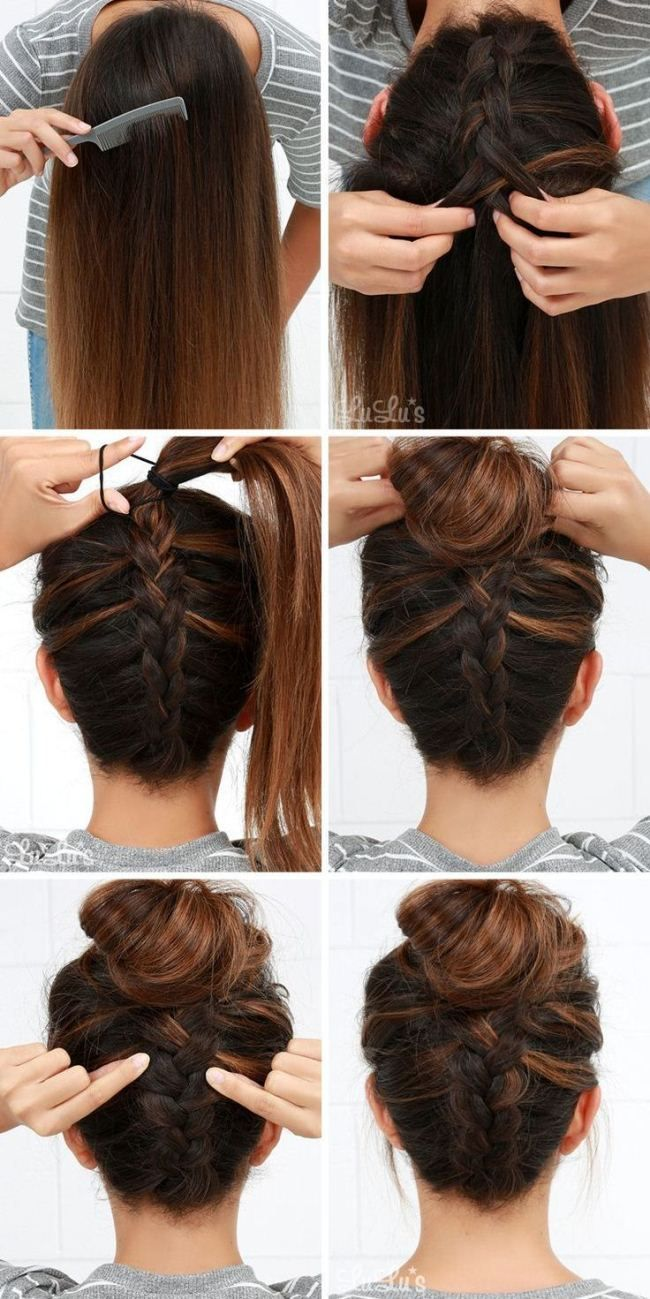 Easy Updos for Long Hair Step by step to do home on English 2018