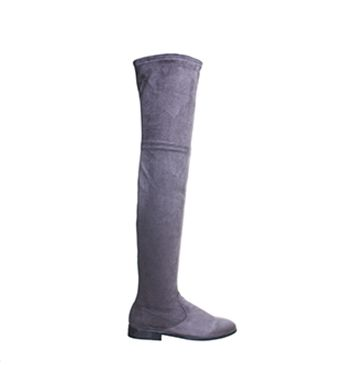 Office Eden Stretch Over the Knee Boots Grey - Knee Boots