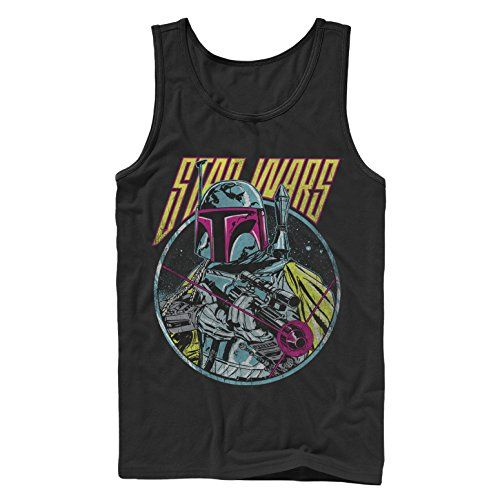 Star Wars Boba Fett Blaster Mens Graphic Tank Top ** Details can be found by clicking on the image.