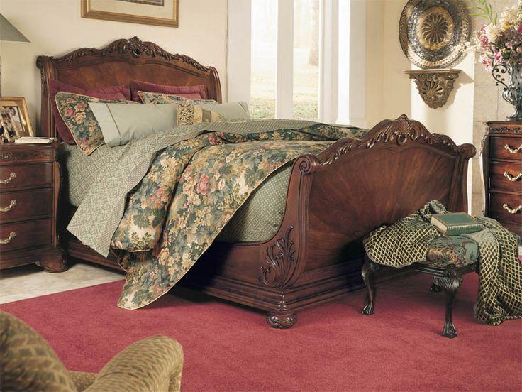 Bob Mackie Home Sleigh Bed by American Drew   Furniture ...