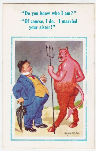 DONALD MCGILL - Drunk Who Married The Devil's Sister - #3000 - c1960s postcard | eBay