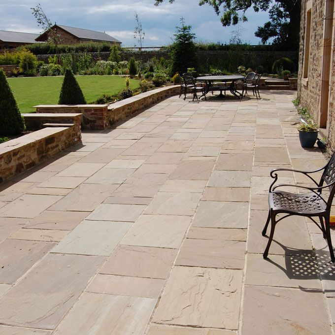 Raj Green Stone Patio Designs Patio Slabs Garden Paving