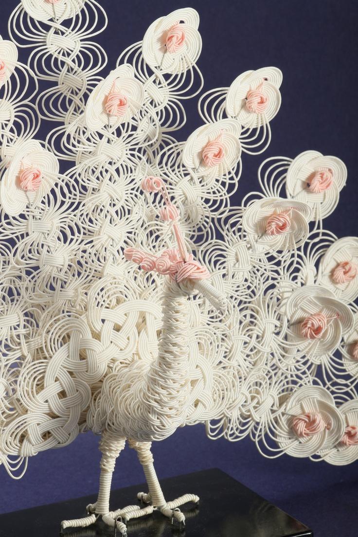White peacock 白孔雀 ㈲ながさわ結納店 #japan #mizuhiki #wedding #yuino#fukuoka#hakata