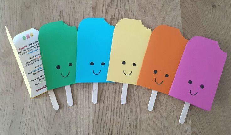 Vrolijke ijsjes uitnodigingen voor kinderfeestje - by Tilia