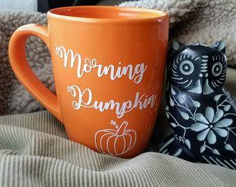 Pumpkin mug, Morning pumpkin mug,fall mug, pumpkin spice mug, pumpkin spice, fall decor, coffee mug, orange mug, pumpkin cup, fall cup